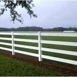 White Split Rail Fence with PVC