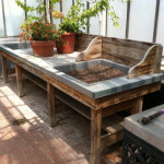 Wide Garden Potting Work Bench