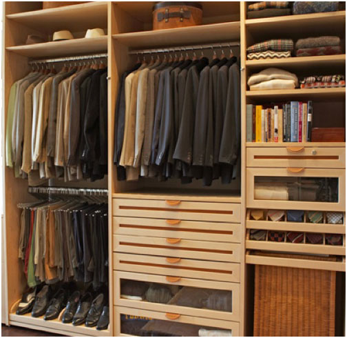 Wooden walk in wardrobe closet design interior design ideas for Men s walk in wardrobe