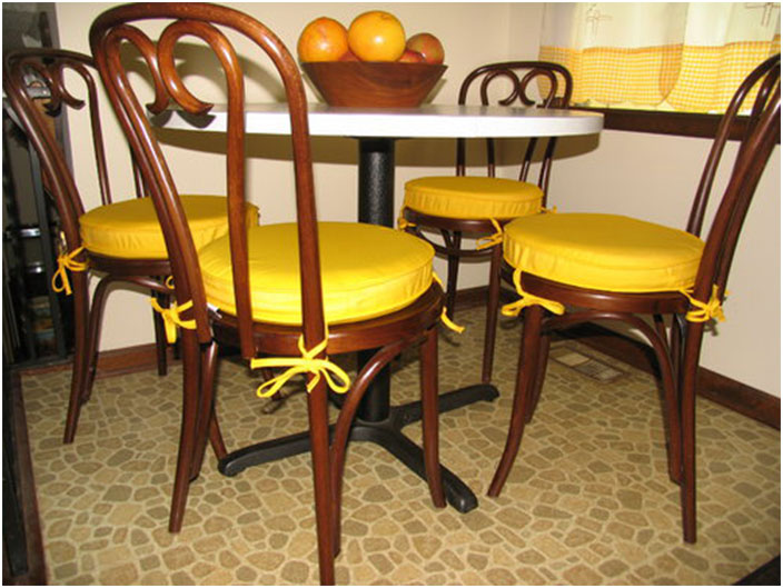 Yellow Dining Room Chair Cushions