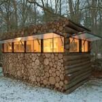 log pile Deer Blind Windows
