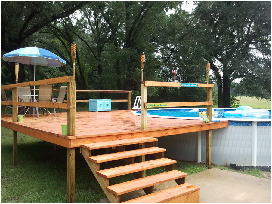 Beautiful Deck Designs for Above Ground Swimming Pools