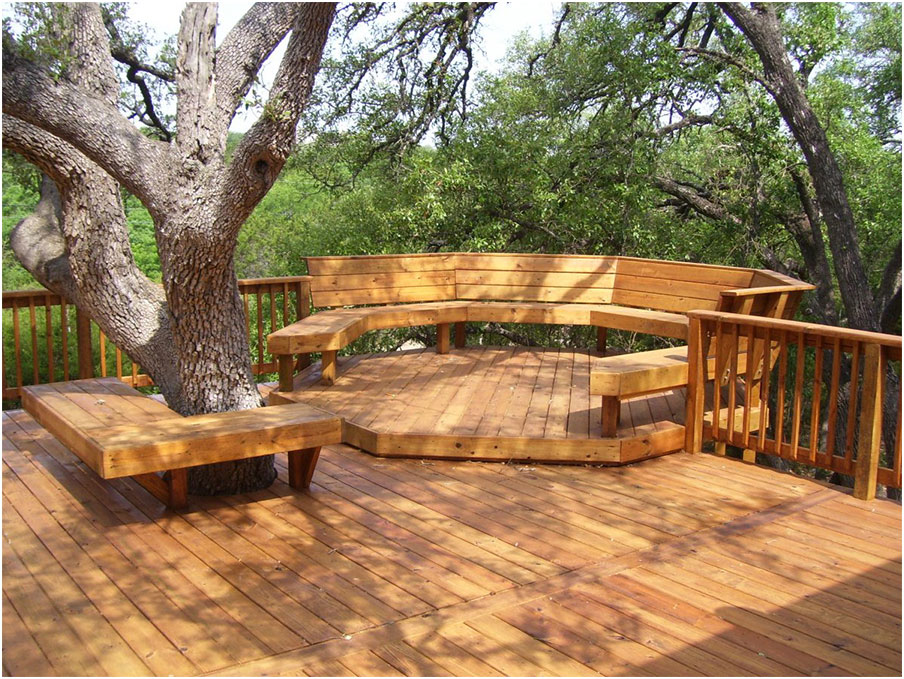 Beautiful Deck Designs Around Trees