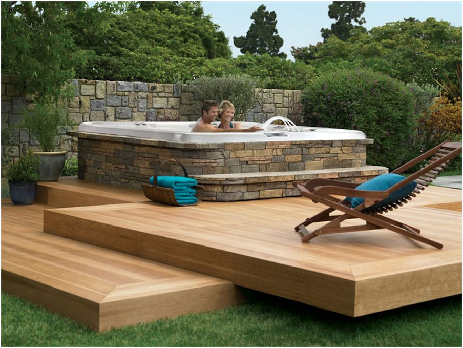 Beautiful Deck Designs To Support A Hot Tub Interior