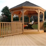 Beautiful Deck Designs with Wooden Gazebo