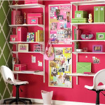 Beautiful Pink Stunning Study Space Inspiration For Teens
