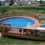 Beautiful Round Pool Decks Designs