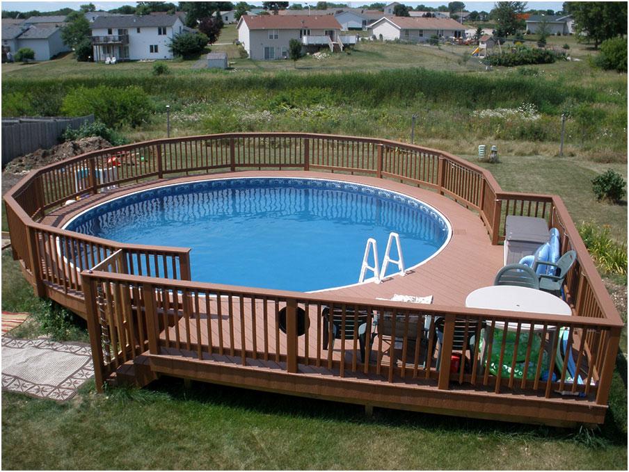 Beautiful Round Pool Decks Designs