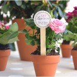 Brides Mini Chalkboard Flower Pots