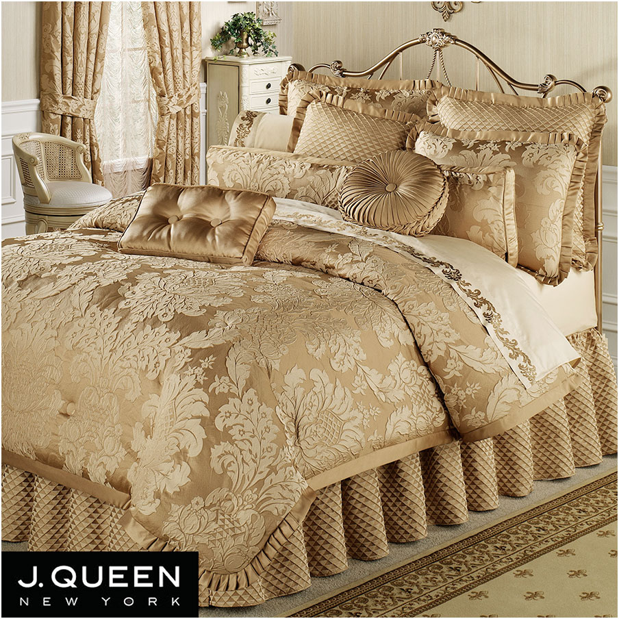 Contessa Damask Comforter Bedding Set by J Queen New York