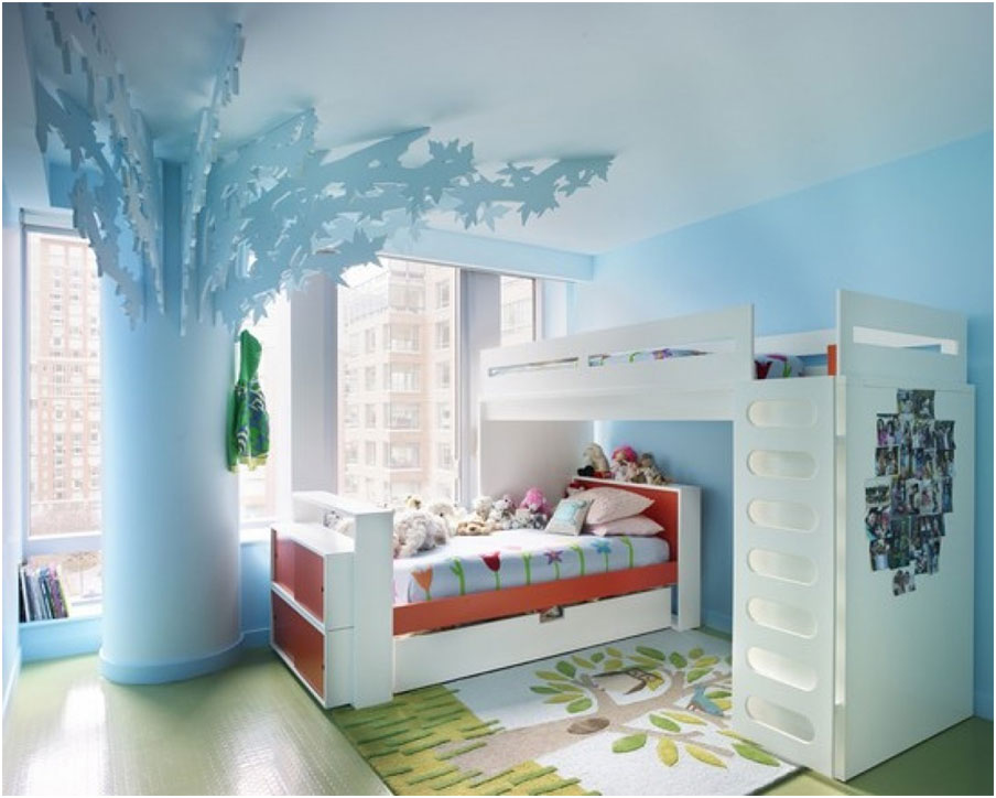 Cool Blue Tree Beds Designs for kids