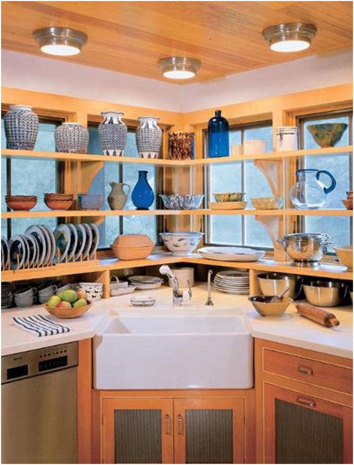 Corner Kitchen Farmhouse Sink Ideas
