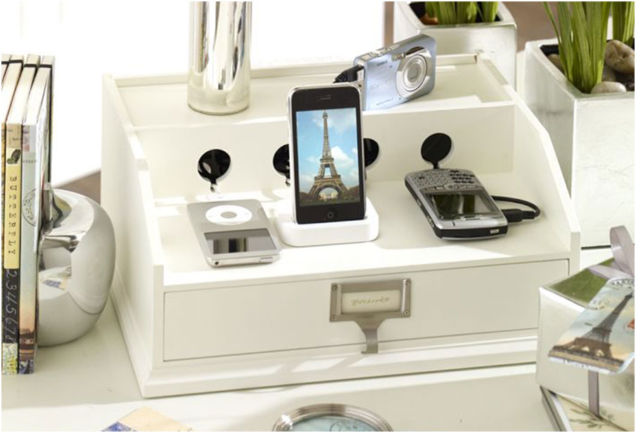 Diy charging station organizer interior design ideas Diy cell phone charging station