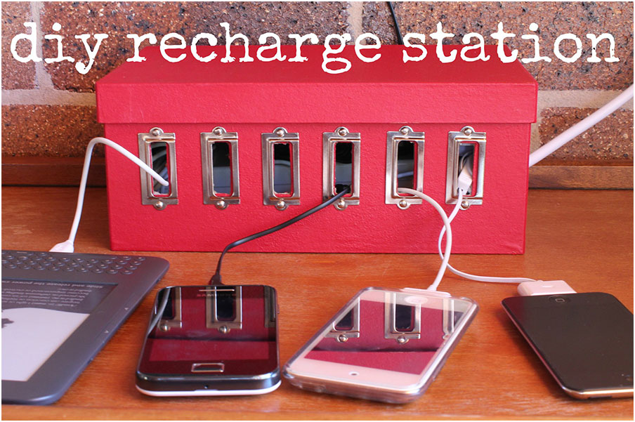 DIY Charging Station Shoebox Ideas