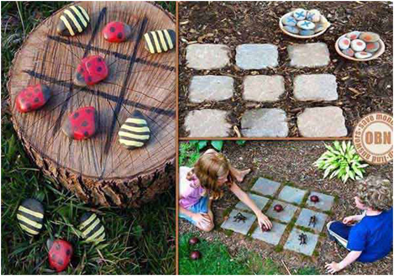 Garden fun for the kids in Backyard