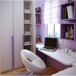 Glamorous Purple Stunning Study Space Inspiration For Teens