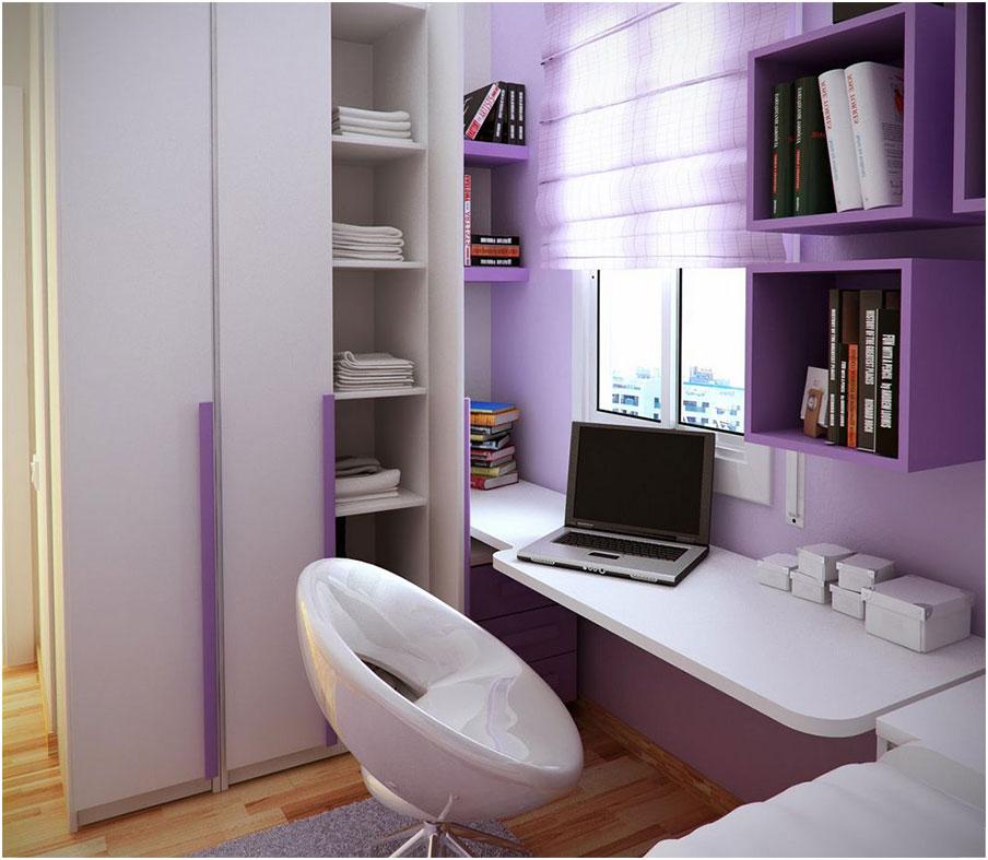 Glamorous Purple Stunning Study Space Inspiration For Teens