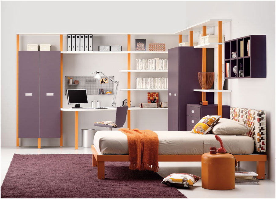 Inspiring Purple Teenagers Rooms Design Ideas
