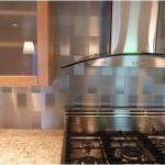 Modern Stainless Steel Backsplash Decor