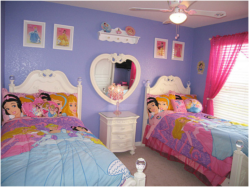 Princess Girls Twin Bedroom Decorating Ideas