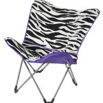 Purple Zebra Saucer Chair Design