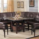 Simple Stylish Corner Black Marble Kitchen Tables