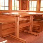 Simple Stylish Corner Wooden Kitchen Tables Design