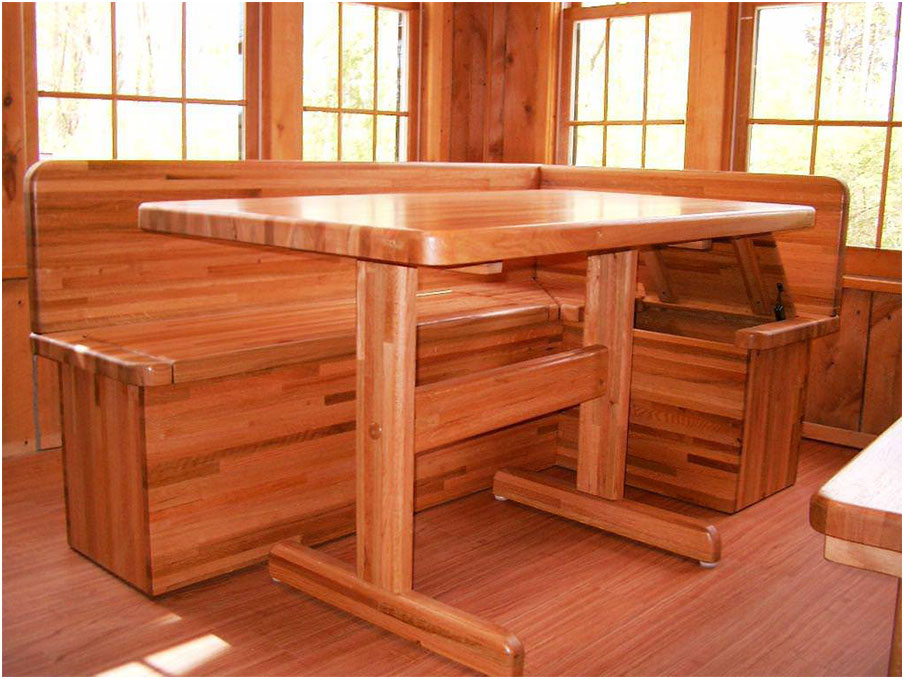 Simple Stylish Corner Wooden Kitchen Tables Design