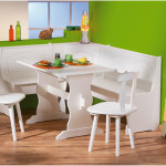 Simple White Stylish Corner Kitchen Tables