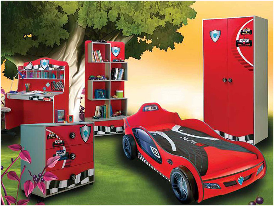 Tree Wallpaper Beds Designs for kids