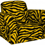 Yellow Zebra Saucer Chair Design Ideas