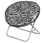Zebra Faux Fur Saucer Chair Design Ideas