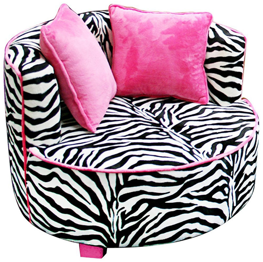 Zebra Saucer Chair Design for Teens