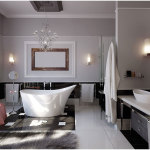 Arrangement For Modern Bathroom Decoration Ideas