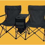 Black Double Recliner Camp Chair Design