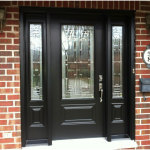 Black Wooden Front Doors With Sidelights