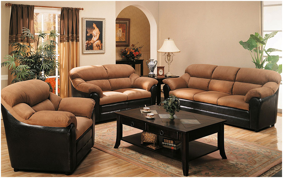 Brown Sofa and Interior Furniture Decorating Ideas