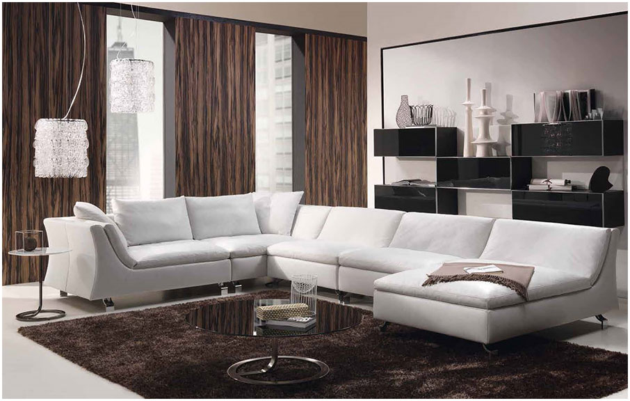Contemporary Brown Living Room Interior Design Styles