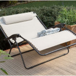 Double Outdoor Reclining Chair Design