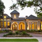 European Home Design With Green Garden Front Yard