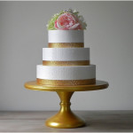 Gold Metallic Wedding Wonderful Cake Stand