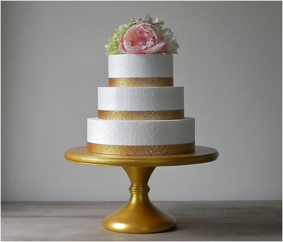 Gold Metallic Wedding Wonderful Cake Stand