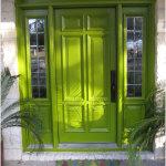 Green Wooden Front Doors Design Ideas