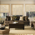 Living Room Design with Brown Sofa