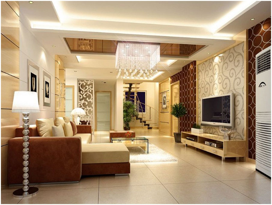 Modern Brown Interior Decorating Ideas For Living Room