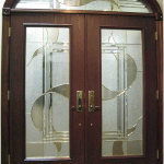Modern Double Front Door Design With Glass