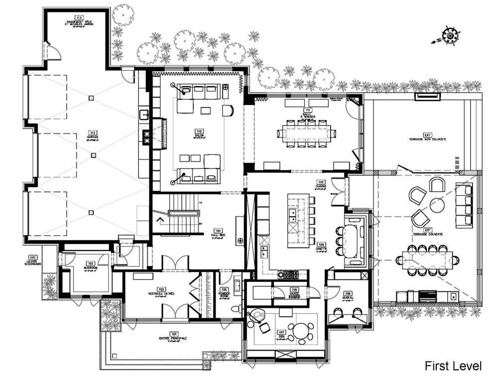 Modern Home Design Layout
