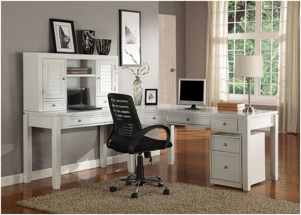 Modern Home Office Work With White Table