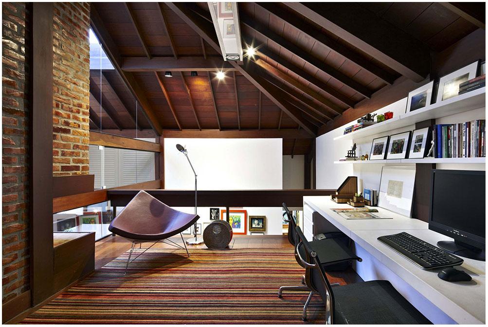 Modern Tropical Workspace Design Coziness