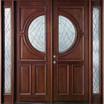 Modern Wooden Double Front Doors Design